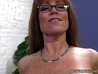 Sexy Cougar Darla Crane Gets Anal From Big Black Cock