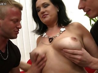 Mature Mother Fucking Two Boys At Once