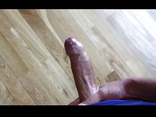 Huge Uncut Cock Masturbating And Coming
