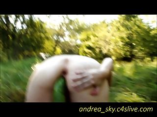 Vegetable Fucking In The Woods- Andrea Sky