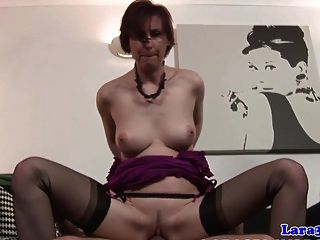 British Mature Tasting A Load Of Cum