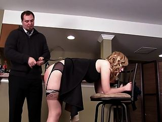 Spanked by dominant black wife