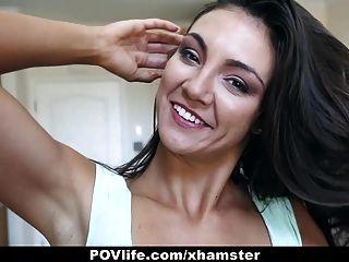 Povlife - Busty Brunette Fuck Buddy Sex Tape