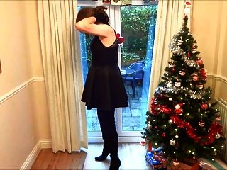 Alison In Thigh Boots - Wanking Under The Christmas Tree