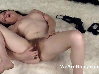 Mahonia Masturbates While Laying On Her Rug