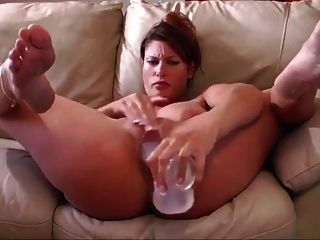 Selfie Video : Girl Having Fun With A Big Dildo.