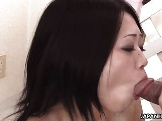 Cute Little Japanese Girl Sucking On A Nice Big Pecker