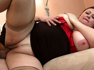 Big Busty Mature Mom Suck And Fuck Young Dick
