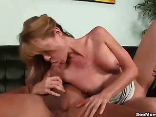Cleaning lady blowjob ends with a mess and a unhappy lady 8