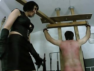 2 Czech Mistresses Whipping Slave