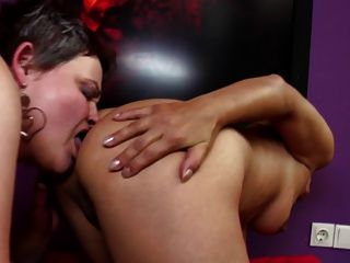 Taboo Lesbian Threesome With Old And Young Women