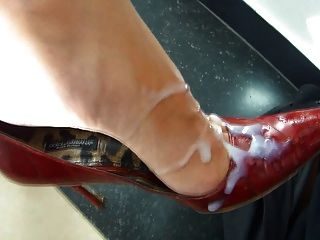 He Cums All Over Her Sexy High Heels Pumps Short Clip