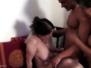 Crazy Group Sex With 4 Moms And Lucky Young Boy