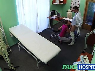 Fakehospital Short Haired Hottie Has No Insurance