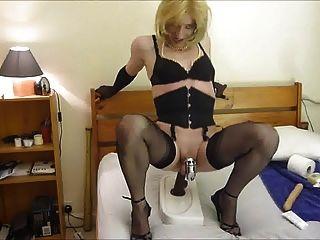 Hot Crossdresser Sissy Riding