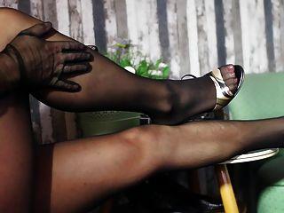 Seamless Stockings In Black