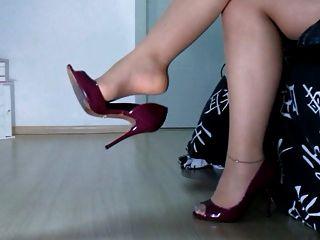 Nylon Feet + Designer Heels + Horny