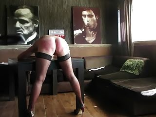 Leather spank video