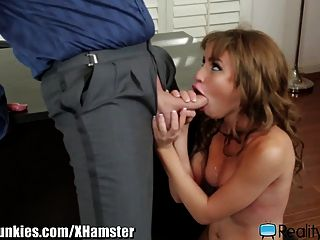 Teen Rides Her Bosses Big Cock At Office