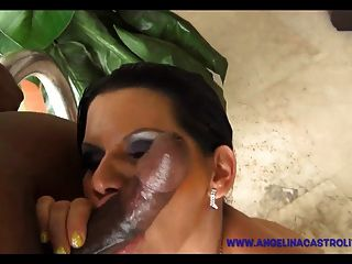Watch Angelina Castro Covered In Cum From Black Cock!