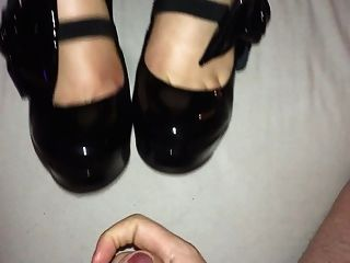 Shoejob with christian louboutin high heels cum on shoes 10