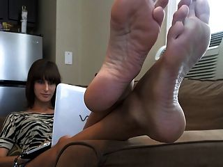 Laptop Feet On The Couch