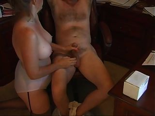 Mom Handjob In Fullback Panty Briefs