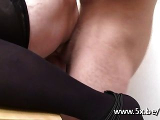 French Granny Ginette Anal Fucked
