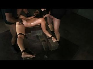 Slut Bound In Splits And Bbc Creampied