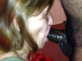 Granny Cocksucker With Black Cock