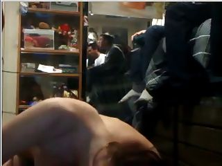 Girl Fucks Guy In Dorm While Bros Play Video Games