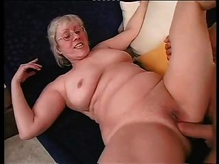 Shaved Granny Happily Takes A Hard Dicking