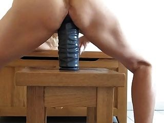 Huge Toy In Loose Cunt