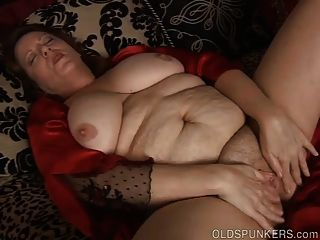 Beautiful Big Belly & Boobs Mature Bbw Fucks Her Wet Pussy