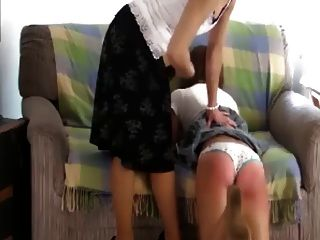 Her Naughty Mouth Is Soaped After A Wedgie Spanking