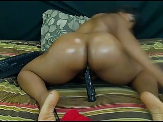 Big Ass Busty Ebony Dilos Pussy + Anal + Gape