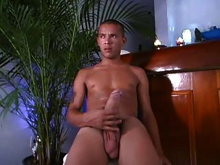 Latino With Monster Cock Jerks Off And Cums!