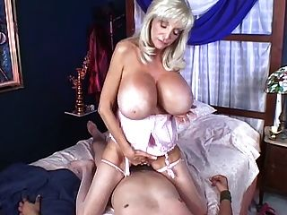 Hot Granny With Big Fake Melons Get Fucked