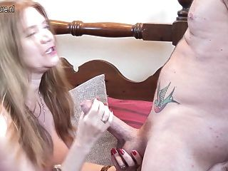 British Mature Mom And Wife Suck And Fuck Her Boy