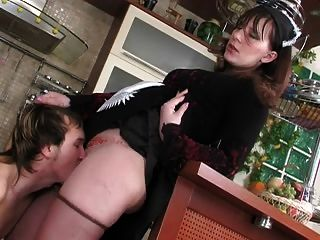 Mature Maid Seduces Boy