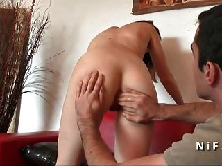 Sublime French Teen Brunette Ass Fucked And Creamed