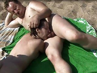 Beach Threesome Fun