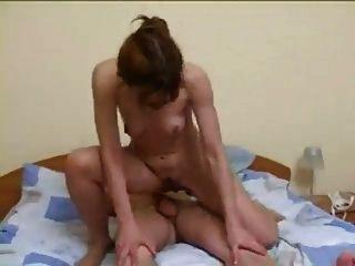 Redhead Russian Milf Fucks Young Man