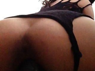 Sexy Latina Fucks A Huge Dildo