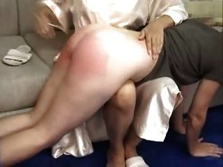 Beautiful Spanking By Mom