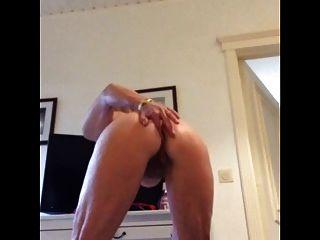Mature Standing Masturbation