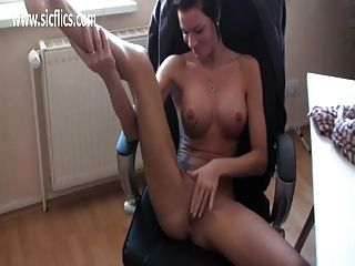 Horny Amateur Secretary Fist Fucked By Her Boss