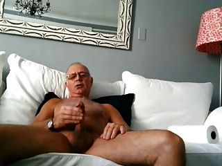 Older Man Shoot A Nice Load