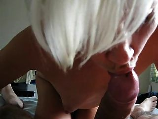 Short Haired Wife Tasting Cock