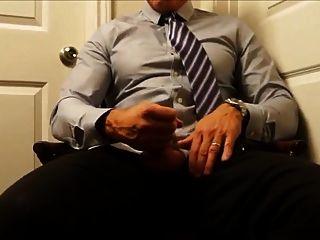 Married Dad Strokes His Big Cock